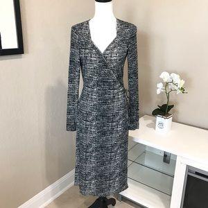 Banana Republic Silk & Cotton Wrap Dress